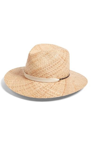 Wide Brim Raffia Hat